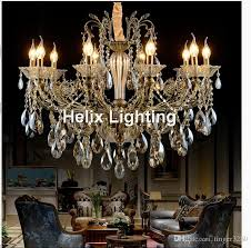 bronze finished antique crystal chandelier lingting luxurious ac led brass crystal lamp re suspension lighting chandelier lights modern chandelier from