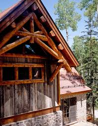 exterior structural wood brackets. Delighful Wood The Master Bedroom Gable Showcases A Structural Log Scissor Truss Supported  By Brackets Exterior Finishes Include Natural Stone Barn Wood And  And Exterior Structural Wood Brackets L
