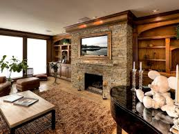 cozy modern living room with fireplace. Living Room, Modern Room With Stone Fireplace White Wooden Laminate Low Profile Coffee Table Large Cozy