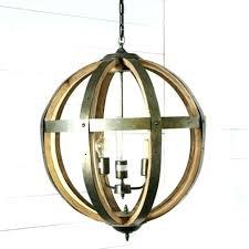 wood orb chandelier wood and metal orb chandelier metal and wood 3 light orb chandelier wood