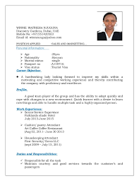 Sample CV new. WINNIE WAITHERA NJUGUNA Discovery Gardens, Dubai, UAE Mobile  No: +971551420503 Email id ...