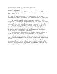 Cover Letter Journal Cover Letter Sample Sample Cover Letter