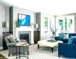blue and gray color scheme for living room