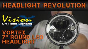 vision x 7 round led headlights headlight revolution