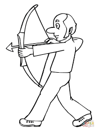 Small Picture Funny Archer coloring page Free Printable Coloring Pages