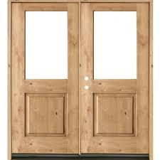 krosswood doors 64 in x 80 in rustic