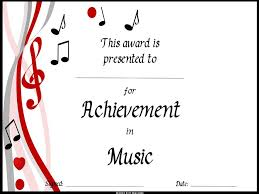 Choir Certificate Template End Of The Year Music Awards Editable Music Award