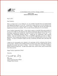 Inspirational Appreciation Letter For Teacher Excuse Letter