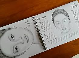 Face Charts For Makeup Artists Blank Templates Note Jot