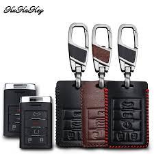 <b>KUKAKEY Genuine Leather Car</b> Key Case For Cadillac CTS ...