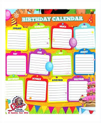 Day 5 Perpetual Calendar Birthday Reminder Book Template Templates ...