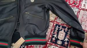 gucci leather jacket unboxing and review