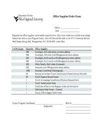 Office Supply Form Template Order Blank Request Contactory Co