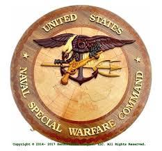Naval Special Warfare Command Woodart Plaque
