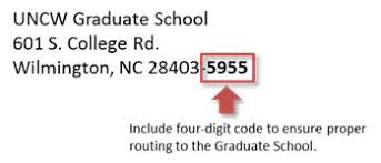 graduate school application watson college of education at the mailing address for transcripts
