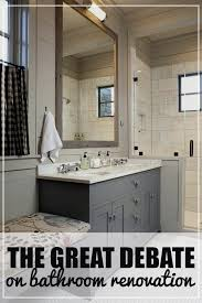 the great debate on bathroom renovation should you remove the bathtub to create a stand alone shower