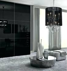 chandeliers with black shades rectangular crystal chandelier with black shade