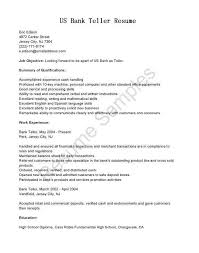 Bank Teller Resume Objective Luxury Entry Level Teller Resume Bank Simple Resume For Bank Teller