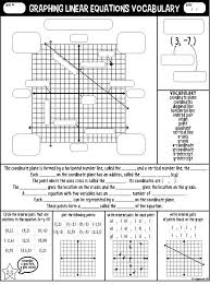 interesting algebra 1 graphing linear equations worksheet about graphing linear equations voary guided notes of