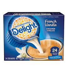 There are 20 calories in 1 tablespoon (0.5 fl. French Vanilla Coffee Creamer Singles 24 Pack