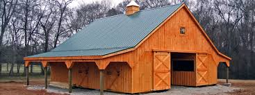 Modular Horse Barn High Profile With Overhangs 4 Stalls Tack Room