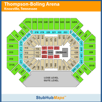 Thompson Boling Arena Concert Seating Chart Thompson Boling Arena Events And Concerts In Knoxville