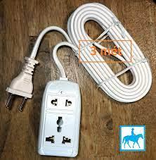 Ổ cắm điện du lịch đa năng 2 lỗ 3 mét 2200W 10A 250V VINAKIP