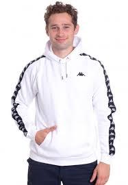 Kappa Finnus Bright White Hoodie