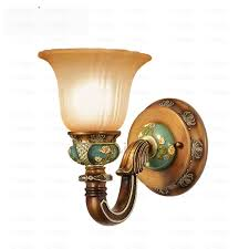 luxury decorative wall sconce european antique resin glass shade candle holder canada for living room flower shelf curtain uk dining