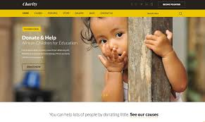 How To Design A Charity Website 001 Screen Shot At Pm Non Profit Website Templates Template