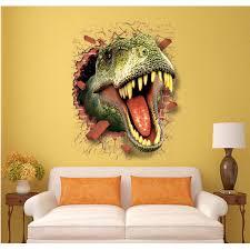 lc7003 crocodile lacoste 3d wall broken window art design