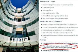 Bbc Slammed For Banning White Job Applicants For Radio 1 Newsbeat ...