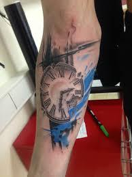 тату часы на руке фото