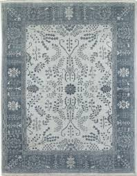 2995 restoration hardware nava light grey hand knotted persian rug 6 x9 wool