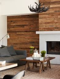 chimney wall cover wood