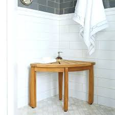 belham living teak corner shower stool bench with shelf small seat all benches bathrooms outstanding