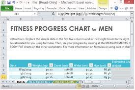 Fitness Progress Chart Template For Excel