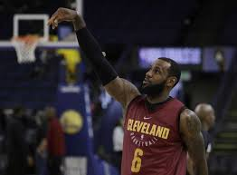 cleveland s lebron james follows through on a shot during an nba basketball practice wednesday in oakland