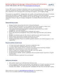 Resume Example For Call Center Call Center Start Up Business Plan Supervisor Resume Sample 60