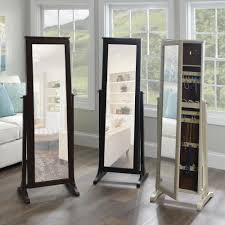 Long Mirror For Bedroom Jewelry Box Tall Swivel Full Length Mirror Easy To Move