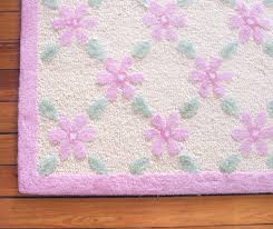 pink and green nursery rug