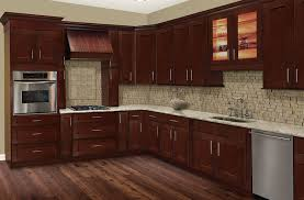 Exellent Cherry Shaker Kitchen Cabinets Hill On Simple Ideas