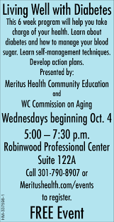 Living Well With Diabetes Meritus Health Hagerstown Md