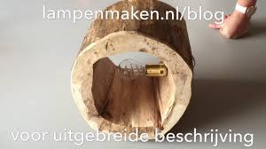 Boomstronk Lamp Maken Youtube