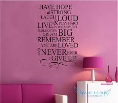 hope quotes wallpaper. Fine Quotes Have HopeWall Sticker Quotes And Saying Decals Wallpaper Home Deco U2039 U203a Hope S