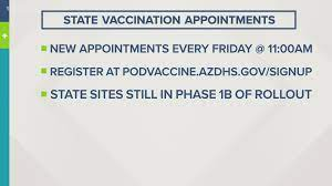 The moderna and johnson & johnson/janssen vaccines, which are allocated to. Tens Of Thousands Of Covid 19 Vaccine Appointments In Arizona Will Be Available Friday 12news Com