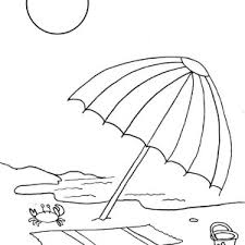 Small Picture A Beach Umbrella and Slippers Coloring Page A Beach Umbrella and