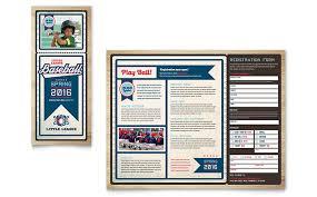 Baseball Brochure Template Baseball League Brochure Template Design