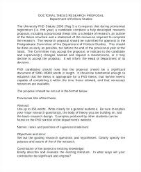 Thesis Proposal Template 8 Free Word Document S Amusing Thesis ...