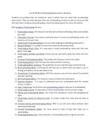Proofreading Symbols Chart List Of 100_best_proofreading_resources